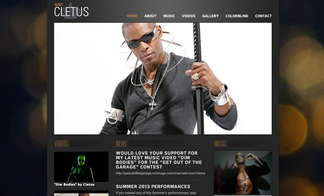 Just Cletus Artist Site